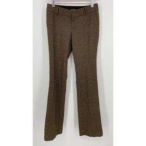 Club Monaco Brown Tweed Mid-Rise Flare Pants